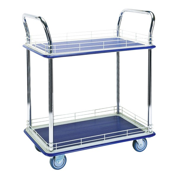 Tiered Flatbed Trolley Edged - 250Kg Two Tier