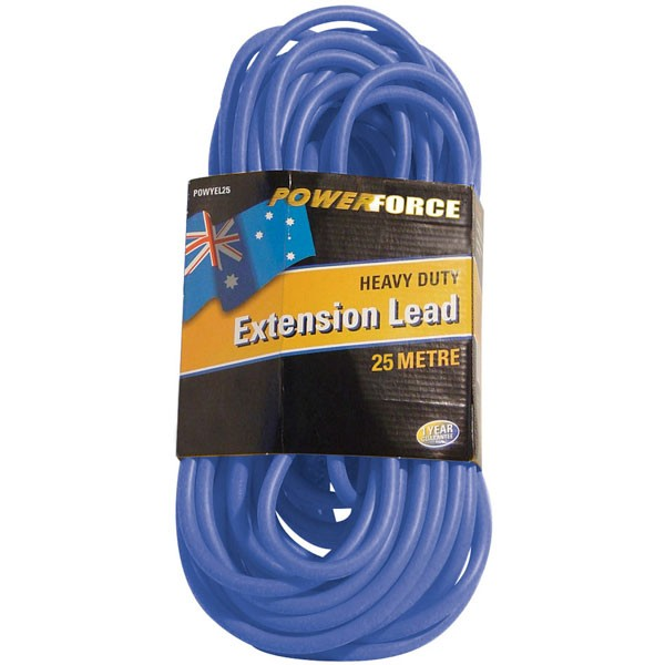 Extension Lead, 25M 15A, Blue