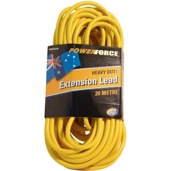 Extension Lead, 20M 10A, Yellow