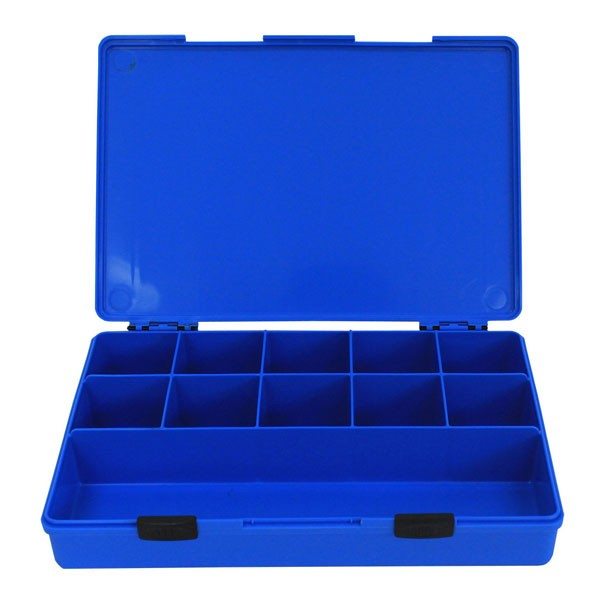 Rolacase 11 Compartment Quick Kit, Blue With Blue Lid
