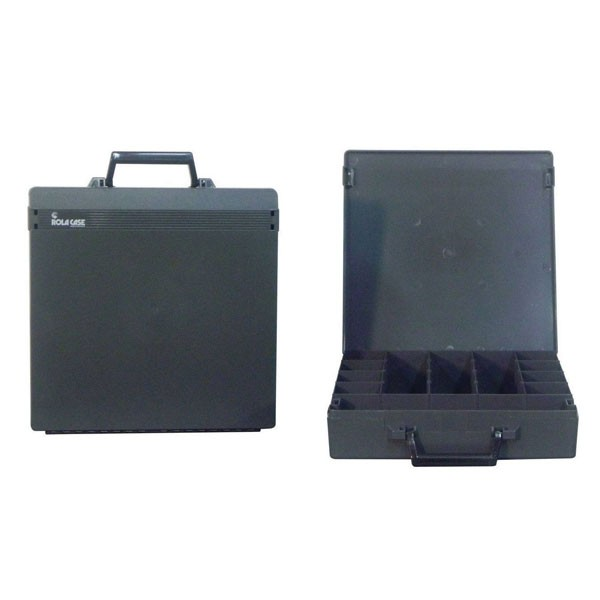Rolacase With 6 Dividers, Charcoal With Charcoal Lid