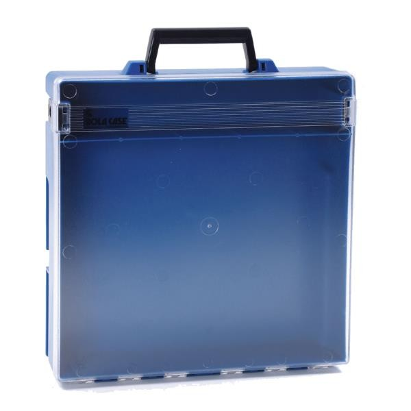 Rolacase Without Dividers, Blue With Clear Lid