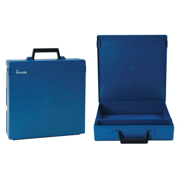 Rolacase Without Dividers, Blue With Blue Lid