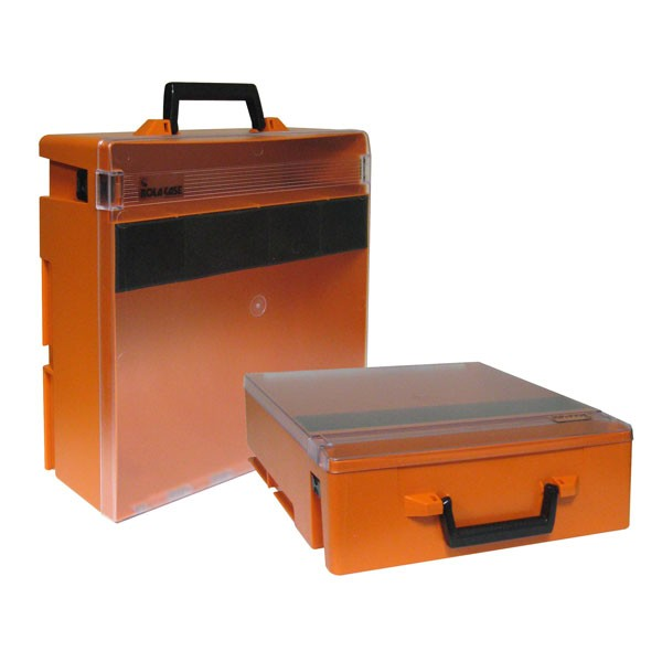 Rolacase With Liftout Tray, Orange With Clear Lid
