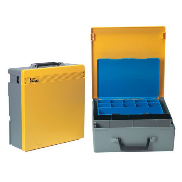 Rolacase With Quick Kit, Grey With Yellow Lid