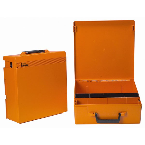 Rolacase With Liftout Tray, Orange With Orange Lid