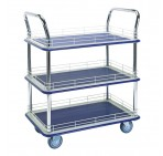 Tiered Flatbed Trolley Edged - 250Kg Three Tier