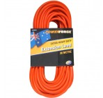 Extension Lead, 20M 10A Plug/ 15A Cable, Red